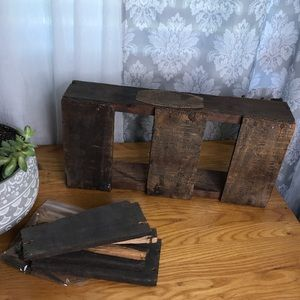 Vintage wooden collection crate w all original